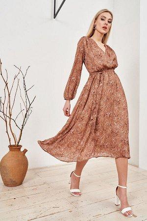 Платье              38.М1-20-2-0-0-52044-4-светло-коричневый