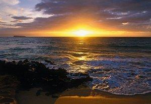Фотообои Закат на пляже