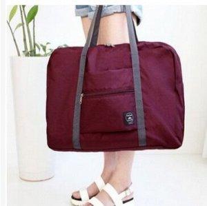 Складная сумка для багажа Бордовая