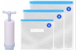 Набор для вакуумизации пищевых пакетов (насос и 5 пакетов)