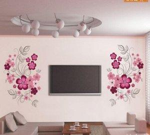 """Наклейка интерьерная на стену """"Цветы"""""""