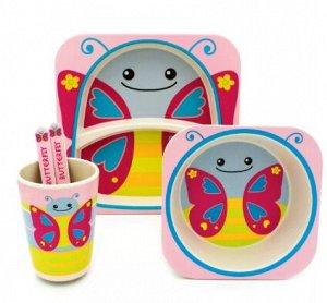 Набор детской посуды Бабочка 5 шт.