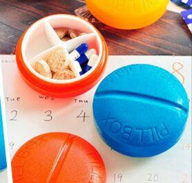 """Карманная таблетница """"Pill Box"""" круглая"""