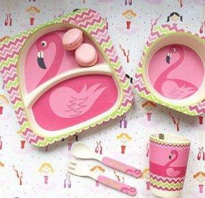 Набор детской посуды Фламинго 5 шт.