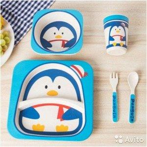 Набор детской посуды Пингвин 5 шт.