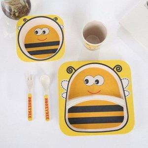 Набор детской посуды Пчелка Желтая 5 шт.