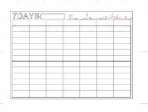 Магнитный планер на неделю (30*42 см)