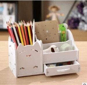 Подставка для ручек и карандашей с ящиком