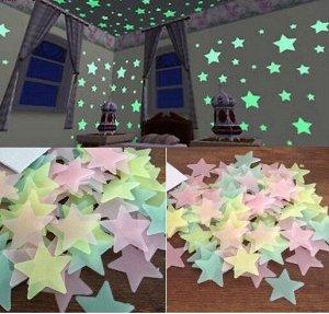 Набор светящихся звезд 70 шт.