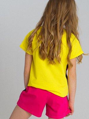 Фуфайка трикотажная для девочек (футболка)