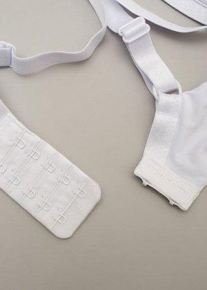 """Правильный бюстгальтер-бра без косточек для беременных и кормящих """"Стейси""""; белый"""