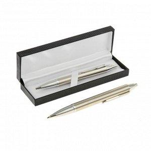Ручка шариковая, подарочная, автоматическая, в кожзам футляре, «Модерн»