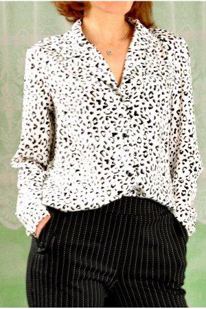 Блузка тканая 112-1 леопард
