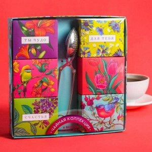 Чайная коллекция с ситечком для чая «Ты чудо»: чабрец, имбирь, корица, мелисса, малина, мята, 6 шт. х 20 г.