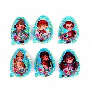 "Яйцо-мягкая конфета ""Magic egg toy"" какао с наполнителем, пластиковая банка, 8 г"