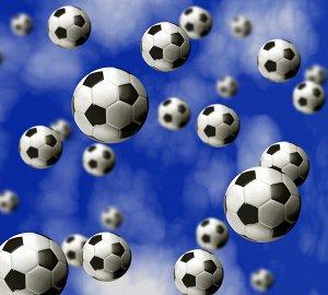 Фотообои Футбольные мячи