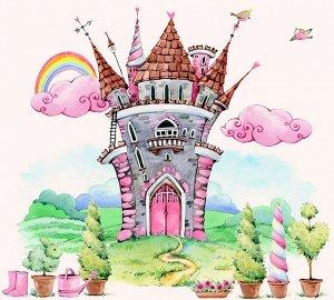 Фотообои Замок акварель