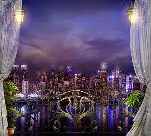 Фотообои Вид на мегаполис ночь