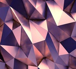 Фотообои Розовый металл
