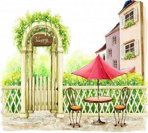 Фотообои Столик под зонтиком
