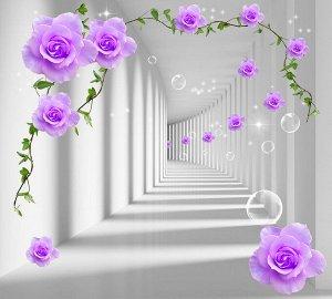 Фотообои Туннель с розами