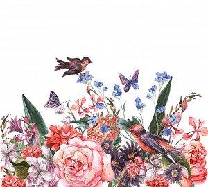 Фотообои Птицы на цветах