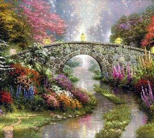 Фотообои Волшебный мост живопись