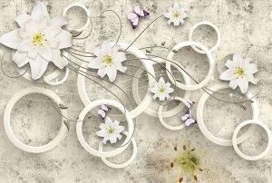 Фотообои Лилии на кольцах