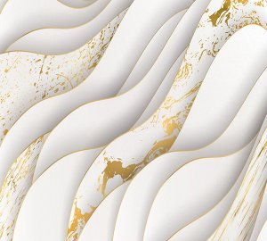 Фотообои Золотые волны