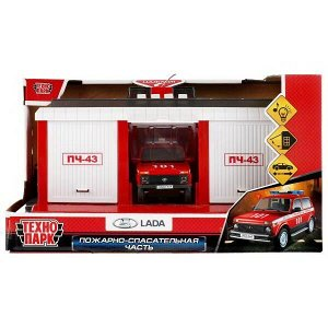 Игровой наборТехнопарк Пожарно-спасательная часть, свет и звук1