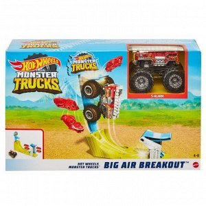 Игровой набор Mattel Hot Wheels Монстр трак Трюковой набор Воздушный поединок8