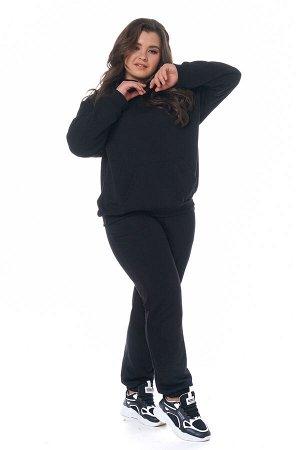 Брюки-4346 Модель брюк: Спортивные; Материал: Трикотаж;   Фасон: Брюки; Параметры модели: Рост 168 см, Размер 54 Брюки спортивные плотные трикотажные черные Универсальные и невероятно комфортные брюки