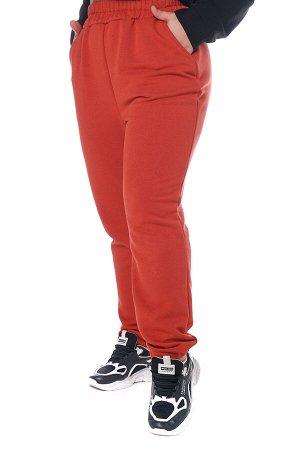Брюки-4303 Модель брюк: Спортивные; Материал: Трикотаж;   Фасон: Брюки; Параметры модели: Рост 168 см, Размер 54 Брюки спортивные плотные трикотажные терракот Универсальные и невероятно комфортные брю