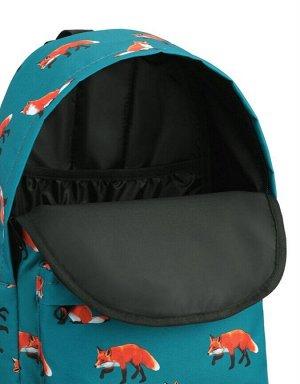 Рюкзак ZAIN 379 (Лисы бирюзовый фон)