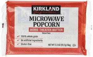 Попкорн ТМ Kirkland для приготовления в микроволновой печи, 93,5 гр (США)