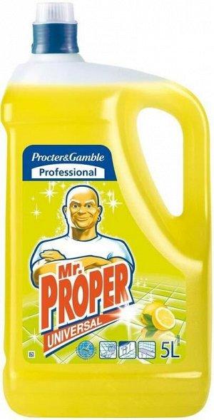 MR PROPER Универсальное чистящее средство для твердых поверхностей Universal Лимон 5л