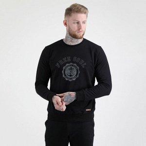 """Куртка Черный Мужской свитшот (принт """"Free soul""""). Материал: Футер с начесом - это плотное трикотажное полотно, у которого лицевая сторона гладкая, а изнаночная – с мягким теплым начесом. Этот материа"""