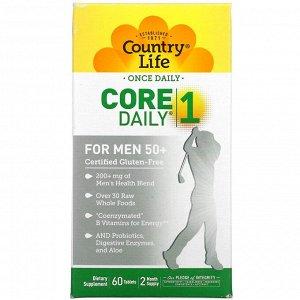 Country Life, Core Daily-1, мультивитамины для мужчин старше 50 лет, 60 таблеток