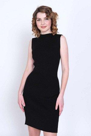 Платье 7048 М  Черный