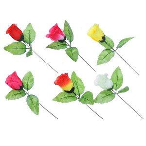 Цветок искусственный в виде розы, 35-40 см
