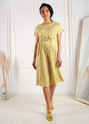 """Платье """"Юлиана"""" для беременных и кормящих; цвет: желтый"""