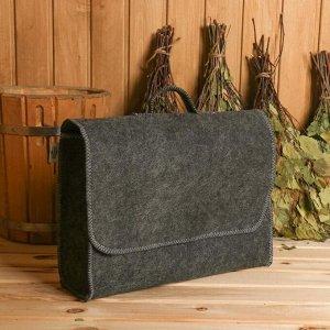 Портфель банный серый