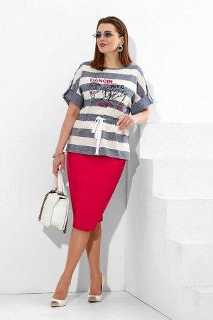 Блуза, юбка Lissana 4275 малина