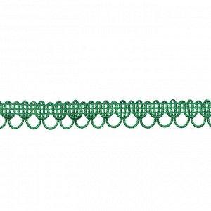 Тесьма Фестоны зеленый 1,5 см намотка 25 метров