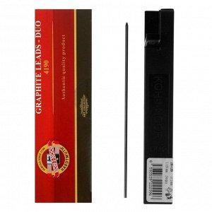 Грифели для цанговых карандашей 2,0 мм Koh-I-Noor 4190, 2В, 2 штуки в футляре