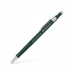 Карандаш механический профессиональный 0.5 мм Faber-Castell TK®-FINE EXECUTIVE с ластиком, зелёный