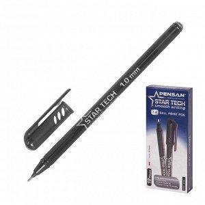 """Ручка шариковая масляная Pensan """"Star Tech"""", чернила черные, игольчатый узел 1 мм, линия письма 0,8 мм"""