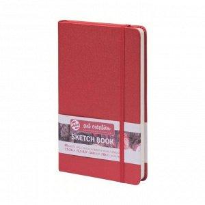Блокнот для рисунков А5, 140 г/м?, Royal Talens, 130 х 210, 80 листов, твёрдая обложка, красный