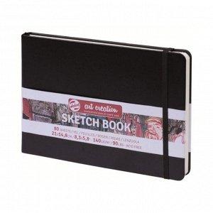 Блокнот для рисунков А5, 140 г/м?, Royal Talens, 80 листов, твёрдая обложка, чёрный пейзаж