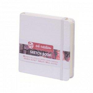 Блокнот для рисунков квадратный 120 х 120, 140 г/м? Royal Talens, 80 листов Art Creation, твёрдая обложка, белый